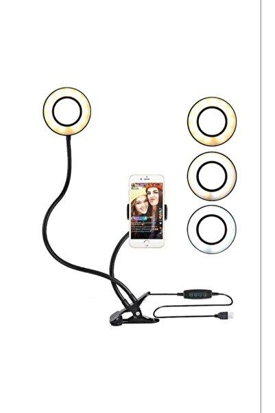LRSM Led Işıklı Ring Light Tripod Adaptörlü Selfie Makyaj Işığı Youtuber & Kuaför Çekim Işığı