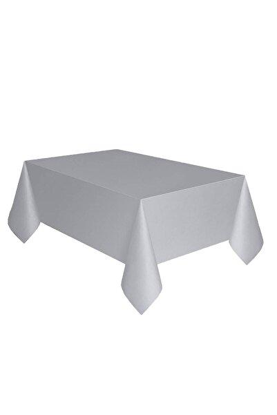 Parti dolabı Gümüş Gri Plastik Masa Örtüsü Muşamba 120cm X 180cm