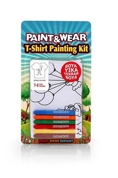 paint-wear Palyaço Boyama T-shirt 7-8 Yaş