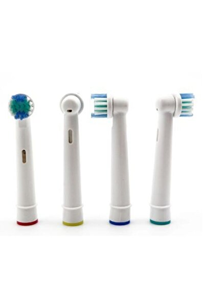 SB Oral-b Şarjlı Diş Fırçası Uyumlu 4 Adet Yedek Başlık