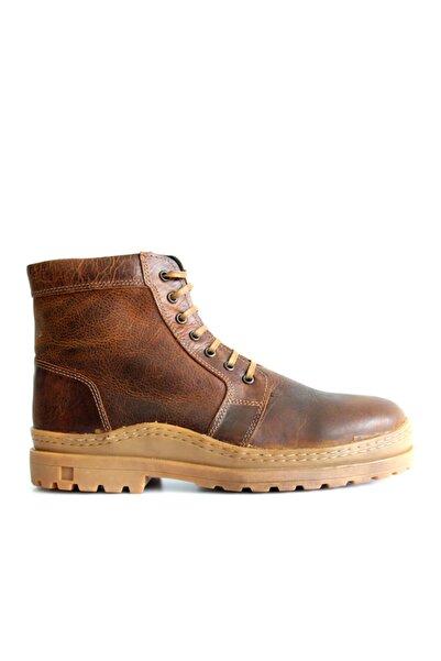 Beta Shoes Erkek Hakiki Deri Bot Taba