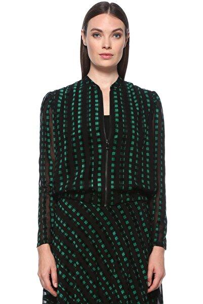 Network Kadın Siyah Yeşil Ceket 1077384