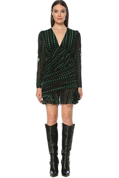 Network Kadın Siyah Yeşil Elbise 1077392