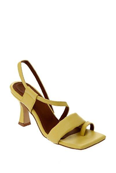 ShoeTek Kadın Sarı Topuklu Ayakkabı