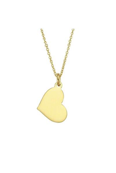 Altın Sepeti Kadın Sarı Kalp Altın Kolye