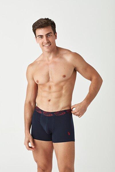 U.S. Polo Assn. Erkek Kırmızı - Lacivert 2 li Boxer