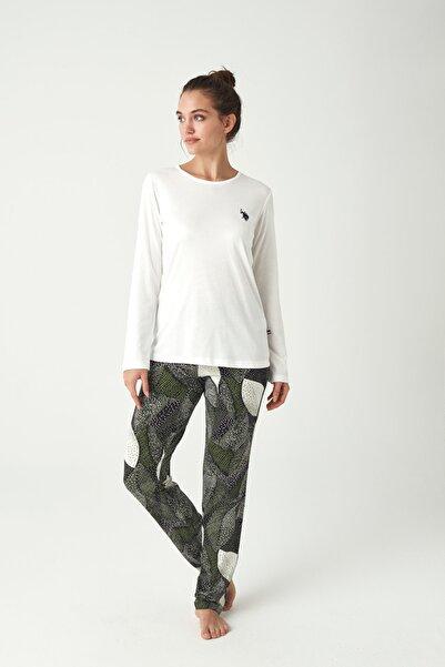U.S. Polo Assn. Kadın Ekru Pijama Takımı
