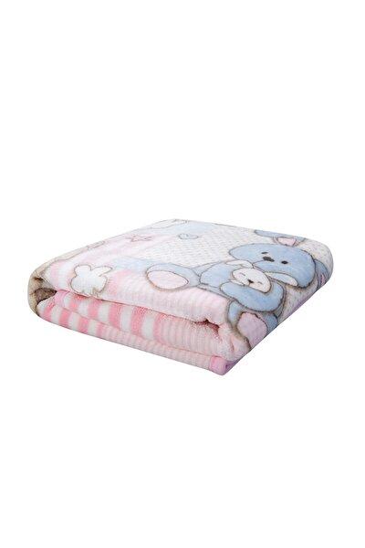 Karaca Home Honey Bunny Pembe Bebek Soft Ispanyol Battaniye