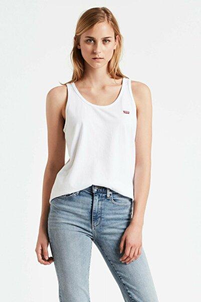 Levi's Kadın Beyaz Pamuklu T-Shirt 74306 0000