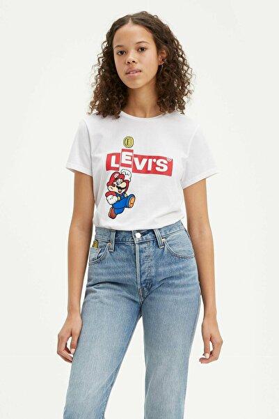 Levi's Kadın Beyaz The Perfect T-Shirt 17369 0909