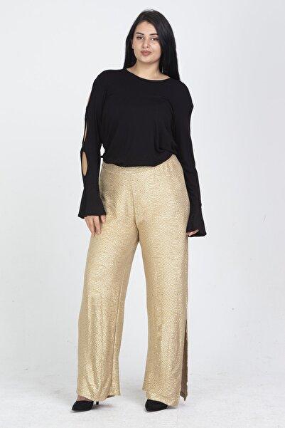 Şans Kadın Gold Simli Pantolon 65N19903