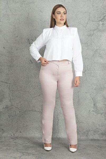 Şans Kadın Pembe Klasik Pantolon 65N19902