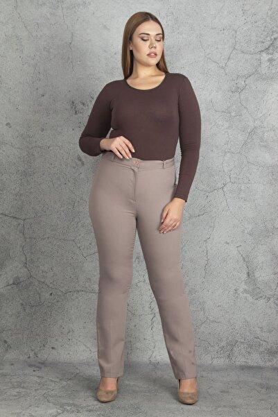 Şans Kadın Vizon Cepsiz Klasik Pantolon 65N19920