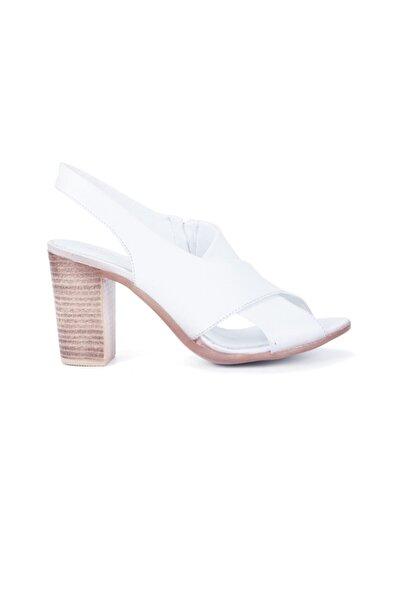 Mammamia Kadın Beyaz Sandalet