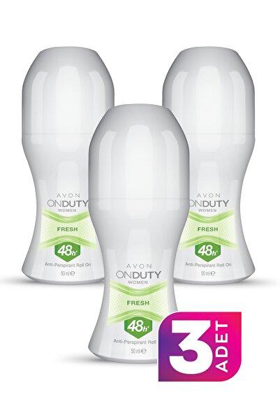AVON On Duty Fresh Antiperspirant Kadın Roll-on Deodorant 50ml - 3'lü Paket
