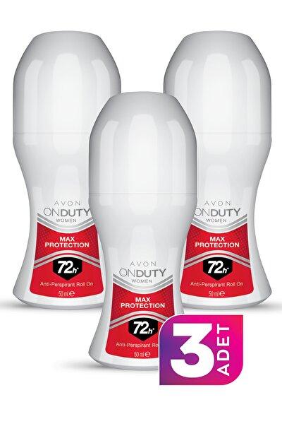 AVON On Duty Max Protection Antiperspirant Kadın Roll-on Deodorant 50ml - 3'lü Paket