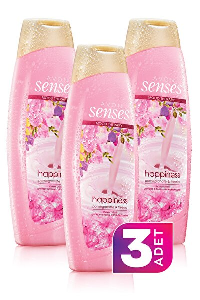 AVON Senses Mood Therapy Happy Duş Jeli 500ml - 3'lü Paket