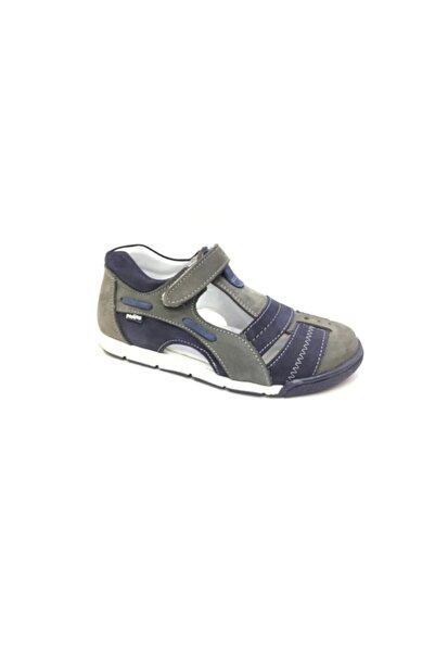 Perlina Erkek Çocuk Gri Hakiki Deri Günlük Ayakkabı
