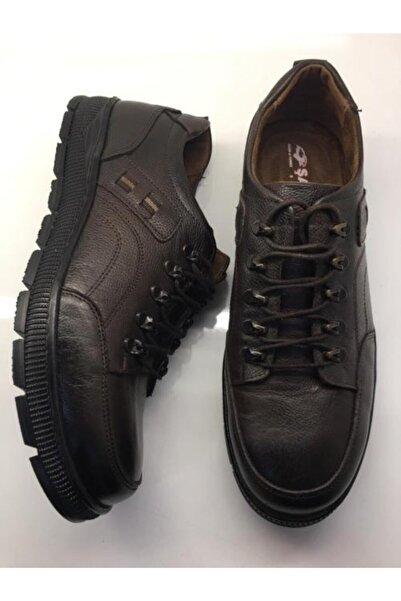 Şahin Erkek Kahverengi Günlük Hakiki Deri Ayakkabı
