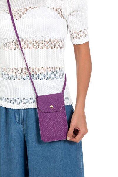 ESPARDİLE Kadın Mor Kartlık Bölmeli Mini Çanta