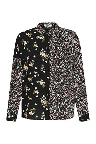 Mudo Kadın Multi Renk Çiçek Ve Puantiye Desenli Gömlek 1220759