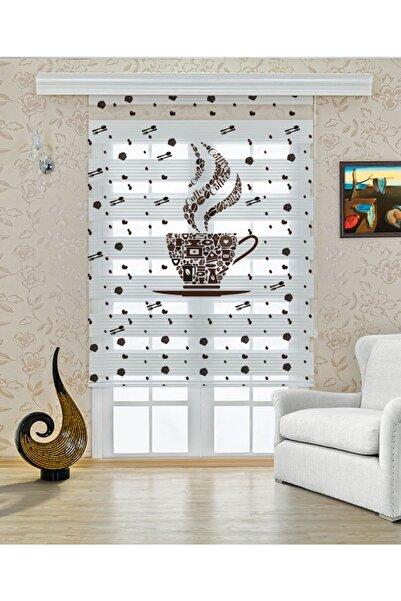 Perdecizade Kahve Sefası Mutfak Zebra Perde