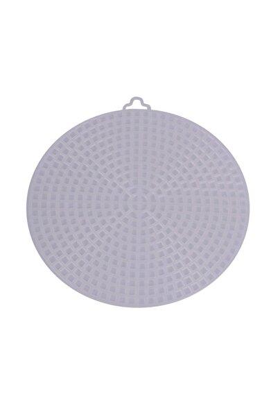 Simisso Krem Plastik Çanta Kanvası Yuvarlak 11 cm