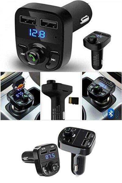 LESGO Car X8 Araç Fm Transmitter Bluetooth Usb Mp3 Sd Kart Çakmaklık Girişli Oto Müzik Çalar Kiti