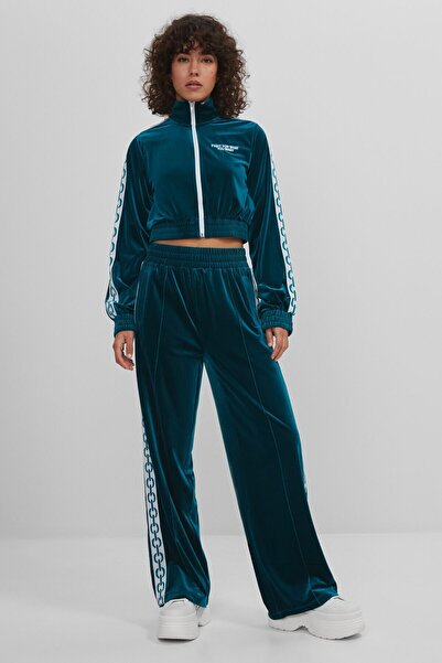 Bershka Trousers With Chain-pattern Side Taping