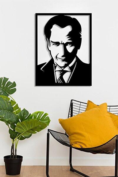 MIGNATIS Mustafa Kemal Atatürk Potre Resmi Duvar Oda Ev Aksesuarı Ahşap Tablo 50x38cm