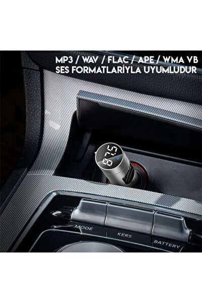 Baseus Energy Column Bluetooth 5.0 Araç Mp3 Dual Usb Araç Şarjı