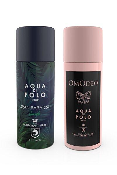 Aqua Di Polo 1987 Omodeo Ve Gran Paradiso Jungle Deodorant Seti Stcc004201