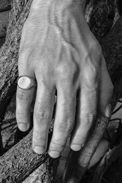CAPO by Aytaç Yamaç Üstü Düz Yuvarlak Serçe Parmak Yüzük