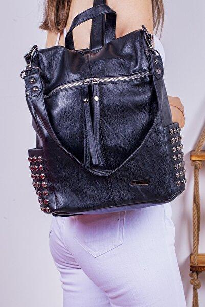 Limoya Bags Camila Siyah Sırt Ve Omuz Çantası