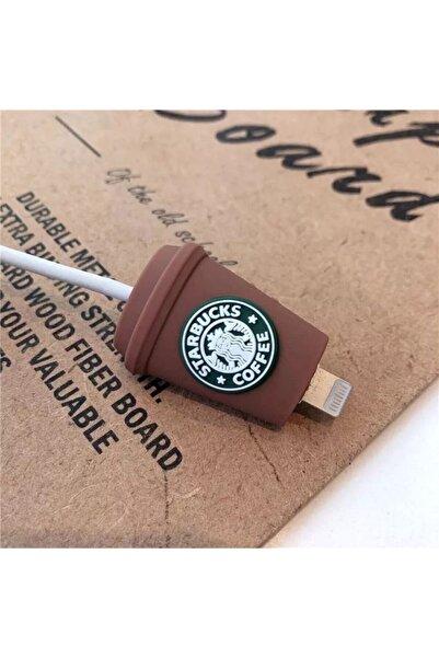 ALKIRMIZI ÇORAP Starbucks Desenli Şarj Kablosu Koruyucusu