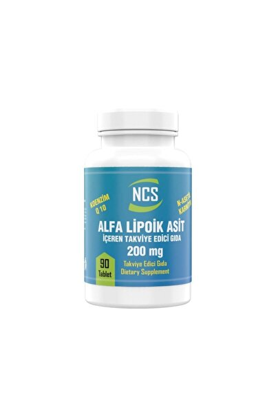 NCS Alpha Lipoic Acid 200 Mg Coenzyme Q10 100 Mg 90 Tablet L Carnitine Ilevali