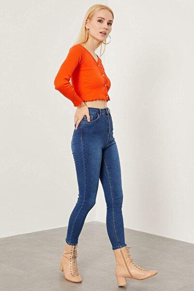 Arma Life Kadın Mavi Yüksek Bel Pantolon