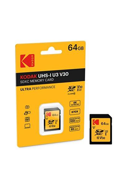 Kodak Sdxc 64gb Class10 U3 Ultra Performans Sd Hafıza Kartı