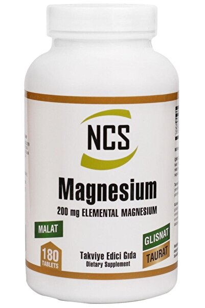 NCS ® Magnesium Bisglisinat Malat Taurat 180 Tablet Magnezyum 200 Mg