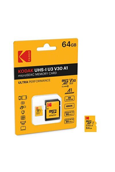 Kodak Msd 64gb Uhs-ı U3 Ultra Ultra Performans Micro Sd Kart + Sd Adaptör