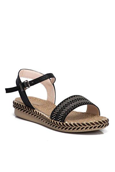Tergan Kadın Siyah Vegan Sandalet 210098d62