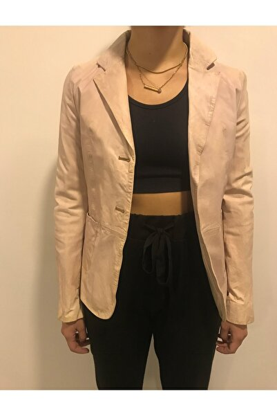 ASUS Kadın Pembe Deri Ceket