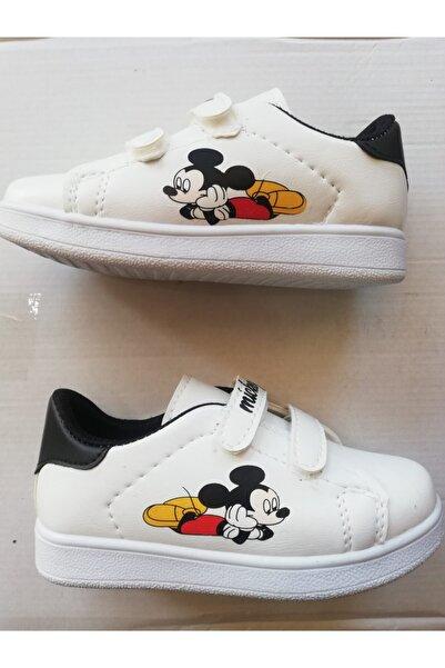 ODESA Kız Çocuk Beyaz Mıckey Baskılı Spor Ayakkabı