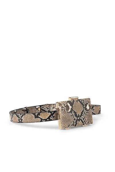 İpekyol Kadın Bej Krokodil Desen Bel Çantası IW6200052062003