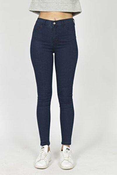 Kadın Lacivert Jeans Kot Pantolon