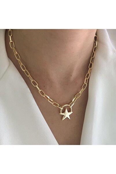 LEO Gold Yıldız Detay Kolye
