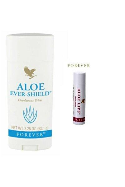 Forever Aloe Ever-shield Deodorant Stick Rollon 1 Adet Ve Aloe Lips 1 Adet Dudak Koruyucu