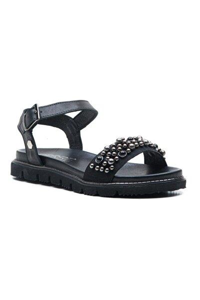 Ferre Kadın Siyah Hakiki Deri Sandalet