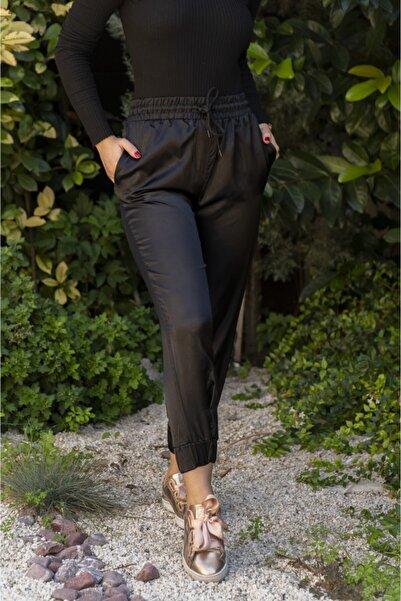 Bebe Kadın Siyah Saten Pantolon