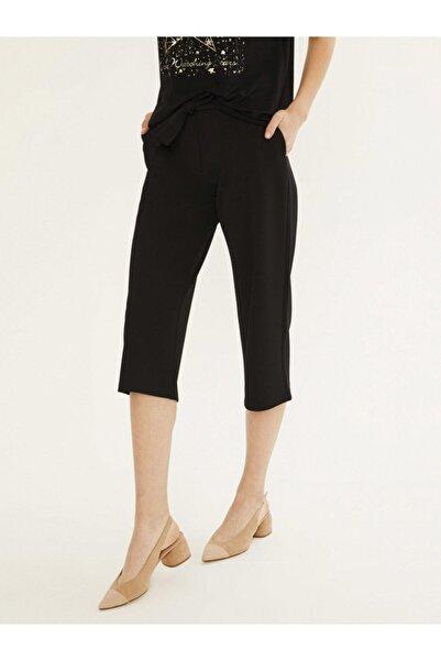 Xint Kadın Siyah Yüksek Bel Bağlamalı Viscon Pantolon